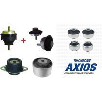 04 Buchas Axios + 04 Calços Coxim Motor Câmbio 206 207