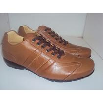 Sapato Sapatênis Masculino Couro Legítimo Queima De Estoque