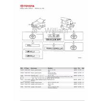 Catalogo De Peças Toyota Corolla Wg Xli Motor 4afe 1997/98