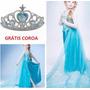 Vestido Fantasia Infantil Frozen Lindos Vestidos Elsa Coroa