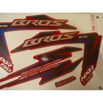 Adesivo Nxr 150 Bros Ks 12 Vermelha Completo Quali