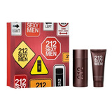 Kit 212 Sexy Men 100ml + Shower Gel 100ml + Amostra