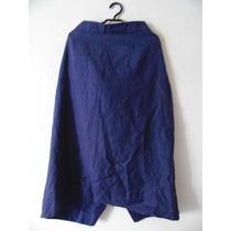 Saia Azul Linho Plus Size Cód. 1080