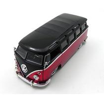 Volkswagen Kombi Bus Van 1962 Preto-vermelho 1:24 Jada Toys