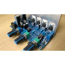 Kit Placa Montada Amplificador 2.1 18+18+36w Rms Dissipador