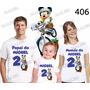 Camiseta Mickey Bicicleta Aniversario Personalizada Kt Com 3