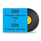 400 Plásticos Para Lp Disco Vinil. 200 Ext. Grosso + 200 Int