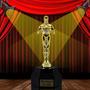 Troféu Oscar Base Hexagonal Personalizado