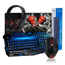 Kit Gamer Teclado + Mouse Pad Grande + Mouse + Headset Usb