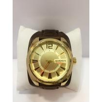Relógio Masculino Pulseira Bracelete De Couro Frete Grátis