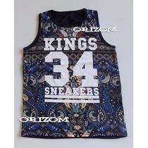 Regata Cavada Camiseta Kings Sneakers 12x Sem Juros!