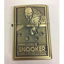 Isqueiro Decorado Bronze Recarregável + Caixa Pra Coleção