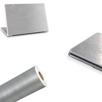 Adesivo Em Vinil Estilizando Aço Escovado Notebook 1mx50cm