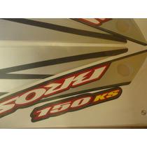 Adesivo Nxr 150 Bros Ks 07 Preta Completo Quali
