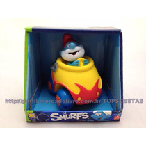 Boneco Papai Smurf No Carrinho Carro Licenciado - Divertoys