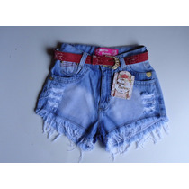 Kit 10 Short Jeans Cós Alto Destroyed Hot Pant Pronta Entreg