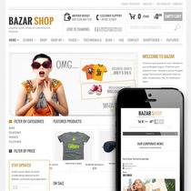 Tema Bazar - Site Para Loja Virtual - E-commerce Wordpress