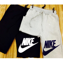 Bermuda Moletom Nike 3 Peças Shorts Moletom Nike Onbongo Ny
