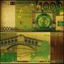 European Union 1000 Euros Folheada Ouro 24k Color Ce-15c Col