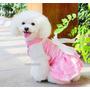 Roupa Cachorro Gato Rosa Fashion Tamanho P Paetes E Strass