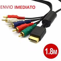 Cabo Video Componente Ps2 Ponta Prata Alta Definição