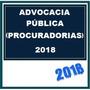 Advocacia Pública  Procuradorias 2018 Dvd Vídeo + Apostilas