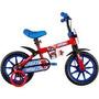 Bicicleta Infantil Aro 12 Spider Man Caloi Vermelho