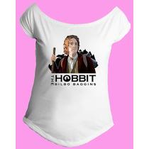 Camiseta Feminina Gola Senhor Sr Anel Aneis Hobbit 08