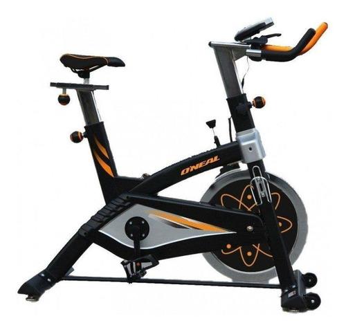 Bicicleta Ergométrica Spinning O'neal Bf068 Preta/prata/laranja