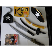 Kit Fantasia Jack Sparrow Disfarce Piratas Do Caribe