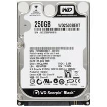 Hd 250gb Sata 3gb/s 7200rpm Wd Scorpio Black 16mb Notebook