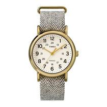 Relógio Timex Style Weekender Tw2p71900ww/n - Dourado / P...