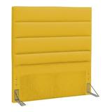 Cabeceira De Cama Box D'monegatto Greta Solteiro 90cm X 125cm Eco-couro Amarela
