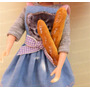Kit 2 Pães Baguete P/ Boneca Barbie Blythe * Comida Re Ment