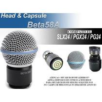 Capsula Microfone Sem Fio Shur E Beta 58 Beta58a Slx Id1983