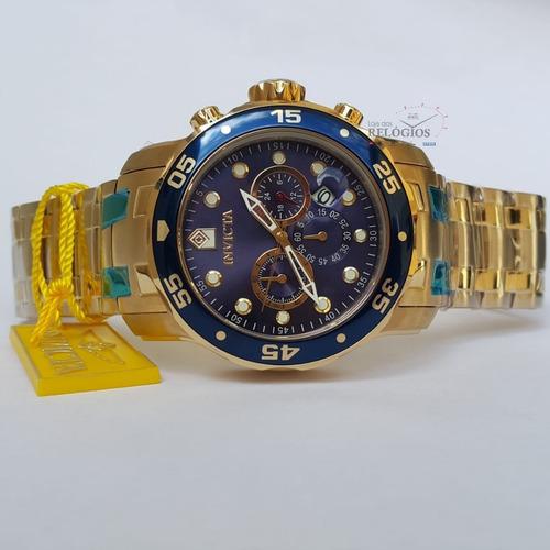 ca8b50cb65b Relógio Invicta Promoção 0073 Dourado B. Ouro 18k Original