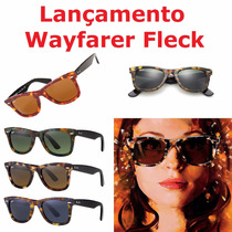 Óculos Sol Ray-ban Rb 2140 Wayfarer Fleck Tartaruga Colorido