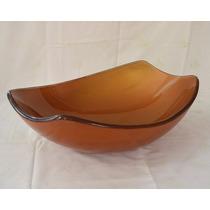 Cuba De Vidro Dourada P/ Banheiro - Oval Chanfrada - 51,50cm
