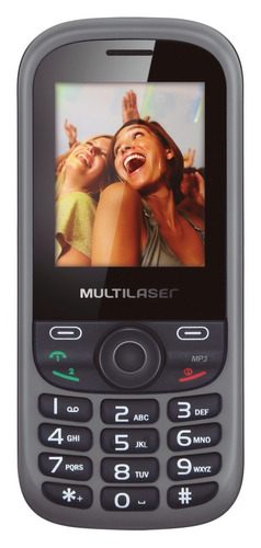 Celular Multilaser Up Dual Chip, C / Câmera, mp3 Mania Virtual