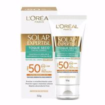 Protetor Solar Loreal Expertise Facial Fps50 50g Toque Seco