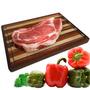 Tábua De Carne Churrasco Areá Gourmet Madeira 40x30x2,5 Cm