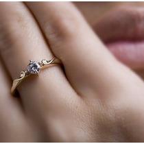 Solitário Me Leva Com Diamante 15 Pontos Ouro 18k!!