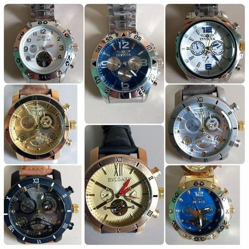 9376a33ea8e Kit 40 Relógio Masculino Dourado Luxo P  Revender + Brinde