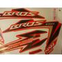 Adesivo Nxr 150 Bros Esd 12 Laranja Completo Quali