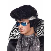 Cosplay Peruca Elvis Presley Com Óculos Importada