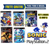 Sonic Ps2 Collection (kit 5 Jogos Patch) - Frete Grátis