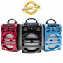 Caixa Som Amplificada Portátil Luz De Balada Bluetooth Usb