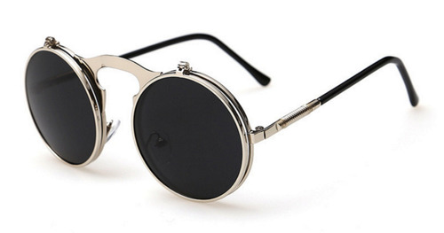 Óculos Sol Redondo Circular Vintage Lente Dupla High Quality dfb6e6b7a4