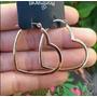 Brinco Argola Coração Vazado 3,4 F/ Ouro 18k Rommanel 523182
