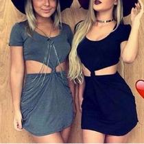 Vestido Nozinho Malha - Moda De Blogueira